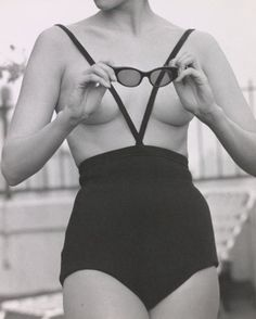 Model in Rudy Geinrich swimsuit (the Monokini), 1964. Photo by Kenn Duncan.