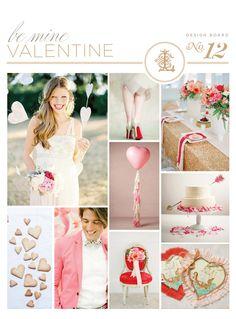 Valentine wedding inspiration board