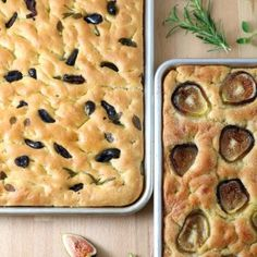Olives, tomatoes, roasted veggies, herbs, or fruits.the topping possibilities are endless with this base recipe for Homemade Focaccia. And no kneading required! Eggplant Recipes, Base Foods, Base Recipe, The Fresh, Pumpkin, Stuffed Peppers, Homemade, Dishes, Pizza