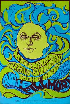 FILLMORE POSTER 1967..This is a striking poster by Bonnie MacLean. It really nails the period and is one of her best posters.     16