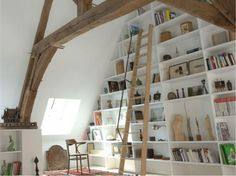 For my books! Tall Shelves, Recycled House, Shelf Design, Dream Rooms, Decoration, Storage Spaces, Ideal Home, Shelving, Home Furniture