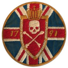 Embroidered British flag // skull & crossbones