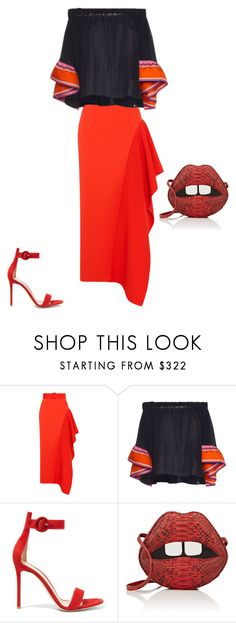 """Untitled #16614"" by explorer-14576312872 ❤ liked on Polyvore featuring Solace, Emilio Pucci, Gianvito Rossi and Gelareh Mizrahi"