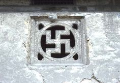 The 'reverse swastika' represents longevity.