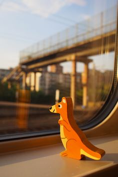 Janod toys - Mr Kangoo in train... Somewhere...