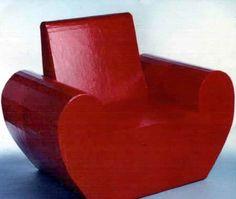 cardboard furniture armchair  Again - My teacher - the great Eric