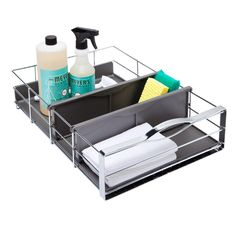 """simplehuman 14"""" Pull-Out Cabinet Organizer Chrome"""