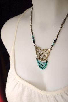 Patina Primitive Geometric Pendant Necklace  The by Flowerleaf, $38.00