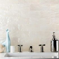 Ivy Hill Tile Amagansett x Ceramic Subway Tile in Cream Ceramic Subway Tile, Glass Subway Tile, Beige Kitchen, Bathroom Wall, Beige Tile Bathroom, Bathroom Ideas, Royal Bathroom, Bathroom Inspo, Master Bathroom