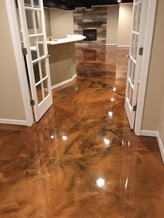 laden Your Guide to Bathroom Planning and Design This bathroom planning guide aims at providing you Epoxy Floor Basement, Basement Laundry, Basement Stairs, Stained Concrete, Concrete Floors, Metallic Epoxy Floor, Bathroom Plans, Ideas Hogar, Basement Renovations