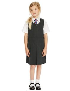 Girls' Traditional Pinafore with Permanent Pleats with Triple Action Stormwear™ School Girl Dress, School Dresses, Plus Dresses, Girls Dresses, School Uniform Outfits, Uniform Ideas, Private School Uniforms, Girls Pinafore Dress, Girly Girl Outfits