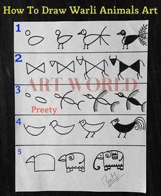 New Baby Shower Diy Frame Nursery Decor Ideas Worli Painting, Painting Shower, Mirror Painting, Fabric Painting, Saree Painting, Pottery Painting, Tribal Drawings, Tribal Art, Madhubani Art