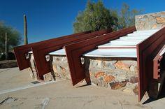 Taliesin West - FLLW Dynamic Architecture, Frank Lloyd Wright Homes, Scottsdale Arizona, Oak Park, Park Homes, Le Corbusier, Cher, Building Design, Gazebo