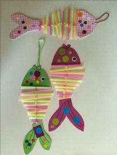 Basteln crafts for kids, fish crafts und kids, parenting. Kids Crafts, Sea Crafts, Summer Crafts, Toddler Crafts, Arts And Crafts, Paper Crafts, Summer Diy, Summer Ideas, Camping Crafts