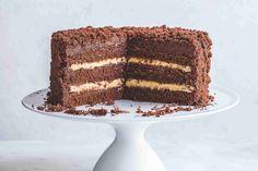 Čokoládovo-kávový dort Best Ever Chocolate Cake, Gooey Chocolate Cake, Amazing Chocolate Cake Recipe, Chocolate Flavors, Chocolate Recipes, White Chocolate, Chocolate Frosting, Baking Chocolate, Sweet Recipes