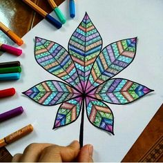 colorful leaf drawing 😊💕, how's it guys? colorful leaf drawing 😊💕, how's it guys? Doodle Art Drawing, Leaf Drawing, Zentangle Drawings, Mandala Drawing, Cool Art Drawings, Zentangle Patterns, Colorful Drawings, Pencil Art Drawings, Doodle Patterns