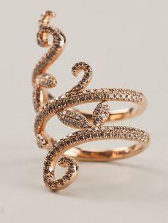 Elise Dray 18kt Rotgoldring Mit Diamanten - Jewellery Atelier - Farfetch.com