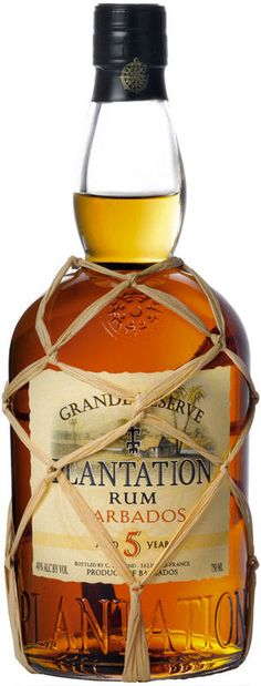 Another Pinner wrote: Plantation Grande Reserve 5 Years Old Barbados Rum. Another affordable rum whose flavor and quality hide behind a modest price tag. Has a velvety-textured body and a hints of caramel, banana, cocoa and pineapple. Tequila, Vodka, Fun Drinks, Alcoholic Drinks, Cocktails, Mixed Drinks, Beverages, Bourbon Whiskey, Scotch Whisky