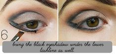 How To Wear Dark Lipstick...How to do eyeliner (liquid)Step by Step Eyeshadow Tutorial with Dramatic Black Liner Dramatic Black,Cat-Eye,Makeup Tutorial,Dark Lipstick,eyeliner,Dramatic Black Liner