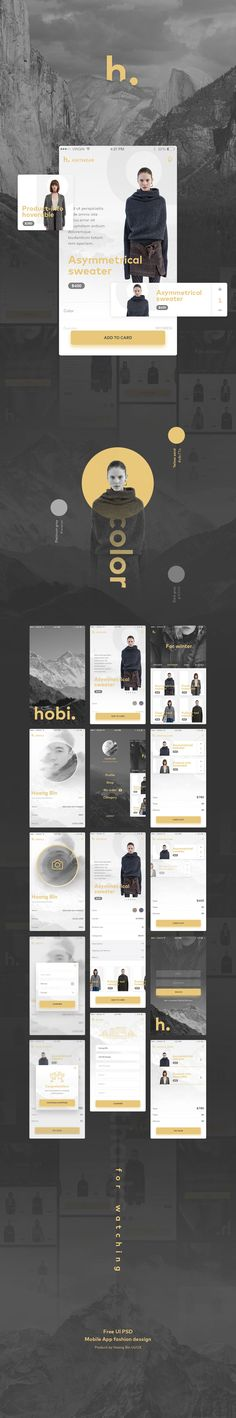 Free UI PSD Mobile App Fashion & Ecommerce on Behance