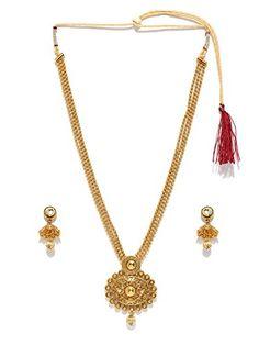 Zaveri Pearls Long Designer Necklace Set- ZPFK4416 #girlsfashionsense #fashion #weddingcollection #necklace #womens http://www.girlsfashionsense.com