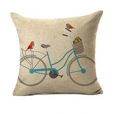 Birds with Bicycle Cotton Linen Square Throw Pillow Cover... https://www.amazon.com/dp/B01FNQTL0K/ref=cm_sw_r_pi_dp_jNRExbMXACS2H