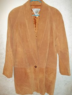 MARVIN RICHARDS GENUINE LEATHER SUEDE LONG BROWN JACKET SIZE LARGE #MARVINRICHARDS #BasicCoat