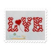 Love Applique Text with Heart
