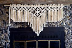 Great Spirit // Macrame Wall Hanging // Window by thethrowbackdaze