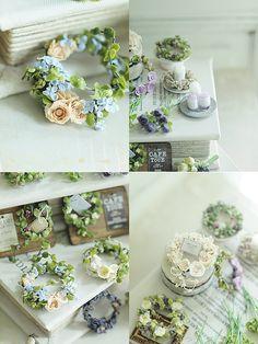 miniature Flower Dollhouse Miniature Tutorials, Dollhouse Miniatures, Clay Flowers, Paper Flowers, Minis, Magic Crafts, Matchbox Art, Mini Plants, Miniature Trees