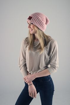 5355b13723ed8 Love Your Melon Rose Speckled Beanie.Fifty Percent (50%) of net proceeds