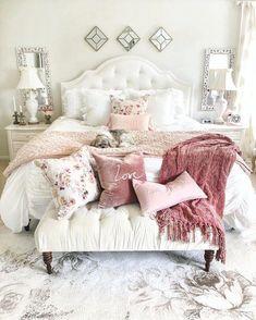 French Home Interior .French Home Interior Glam Bedroom, Woman Bedroom, Home Decor Bedroom, Modern Bedroom, Girls Bedroom, Bedroom Inspo, Girl Room, Rich Girl Bedroom, Budget Bedroom