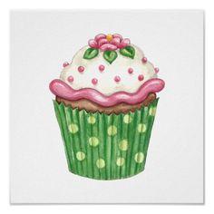 pink green polkadots