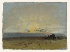 Joseph Mallord William Turner 'Petworth Park; Sunset ('Glade and Greensward')', 1827