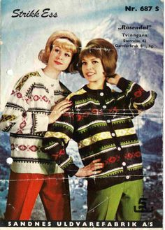 Rosendal 687 S Embroidery Patterns, Knitting Patterns, Vintage Knitting, Sweater Weather, Color Combinations, Christmas Sweaters, Crochet, Adidas, Colour