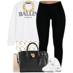 Calm fit with the 5s. by livelifefreelyy on Polyvore featuring Brian Lichtenberg, Michael Kors and ASOS