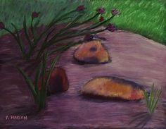 Reaching Through the Shadow - pastel painting.  (c) Rose Hagan
