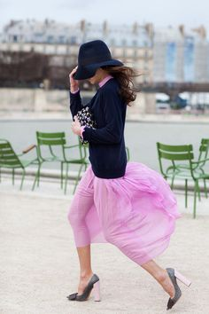 I love that tulle skirts are now being made casual!