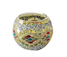 Kobwa(TM) Mosaic Glass Votive Candle Holder Table Decoration Centerpiece (Yellow) with Kobwa's Keyring Kobwa http://www.amazon.com/dp/B00ZQBZXLE/ref=cm_sw_r_pi_dp_H03swb1DN4TDC