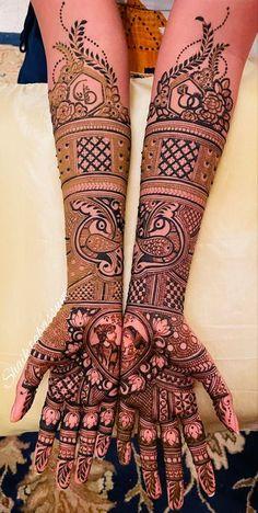 Wedding Henna Designs, Pretty Henna Designs, Full Mehndi Designs, Mehandhi Designs, Henna Tattoo Designs Arm, Simple Arabic Mehndi Designs, Beginner Henna Designs, Latest Bridal Mehndi Designs, Mehndi Design Photos