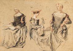 Sketches, Antoine Watteau, 18th Century