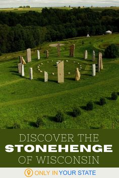 Travel to Wisconsin and you'll find a unique sculpture park that's the Stonehenge of America. A bucket list worthy U.S. destination, Kinstone is a peaceful, beautiful place featuring modern stone sculptures, labyrinths, and a charming chapel. Visitors can take self-guided tours or book the property as an event venue. Rv Travel, Travel Destinations, Travel Tips, Wisconsin Vacation, Fountain City, Beautiful Places In America, Best Bucket List, Stone Sculptures, Usa Cities