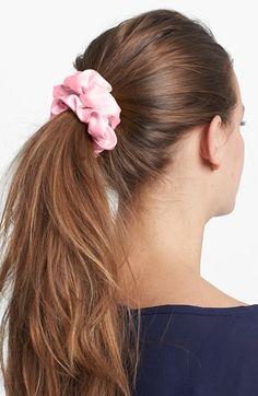 Women's L. Erickson 'Medium' Silk Scrunchie - Pink
