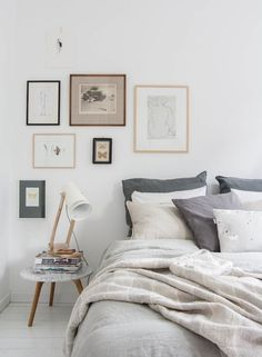 """I thought with the anticipated release of 50 Shades of Grey on Valentine's day, it was very appropriate to talk about bedrooms and the color grey. I'm a huge color lover so it's not often that I show off neutrals. I would usually describe grey as """"blah,"""" but these bedrooms decorated in different shades of grey are anything but."""