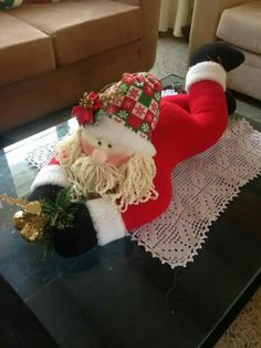 I want to crochet him Christmas Sewing, Christmas Items, Christmas Snowman, Vintage Christmas, Christmas Stockings, Christmas Crafts, Christmas Ornaments, Felt Christmas Decorations, Holiday Decor