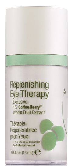 Replenishing Eye Therapy-Restores a smooth, youthful appearance around the eyes. A favorite to help moisturize and protect the delicate area around the eyes. Helps minimize the appearance of fine lines and wrinkles. Contains 1% Coffeeberry® Whole Fruit Extract and caffeine to help reduce puffiness.