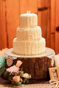 rustic buttercream wedding cake image by Gavin Farrington