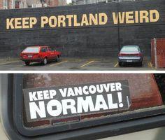 Portland Oregon vs. Vancouver Washington