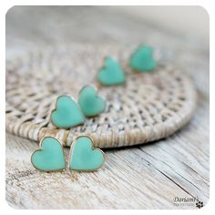 tiffany blue heart earrings -so adorable!