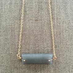 BAR STONE NECKLACE Stone Necklace, Gold Necklace, Bar, Accessories, Jewelry, Jewellery Making, Rock Necklace, Jewerly, Jewelery